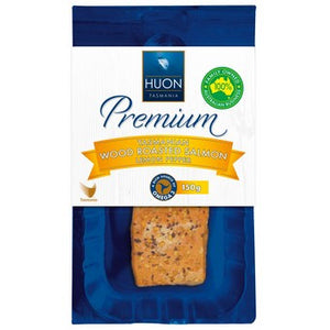 Huon - Premium Tasmanian Wood Smoked Salmon Lemon & Pepper 150g