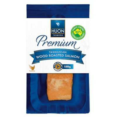 Huon - Premium Tasmanian Wood Smoked Salmon Natural 150g