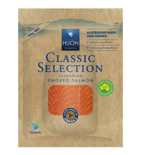 Huon - Classic Selection Tasmanian Smoked Salmon 90g