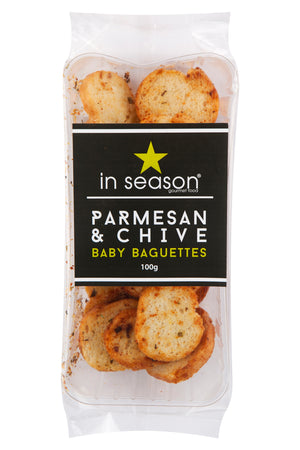 In Season - Parmesan & Chives Baby Baguettes 100g