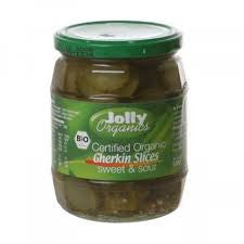 Jolly Organics - Organic Herb Gherkins 'sweet & sour' 670g