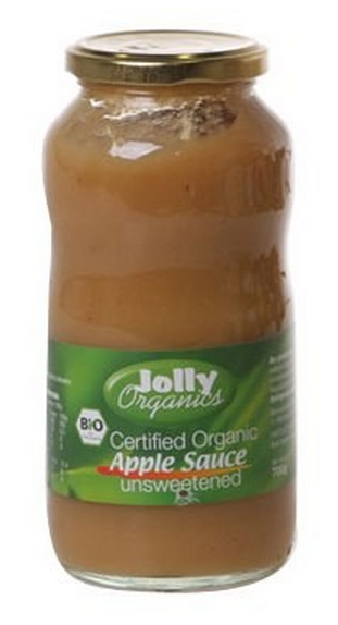 Jolly Organics - Organic Apple Sauce Unsweetened 700g