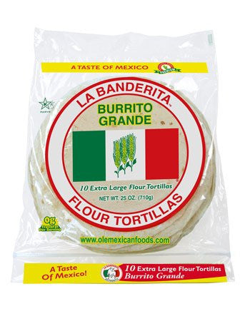 La Banderita - Soft Taco Large Flour Tortillas 10 pack
