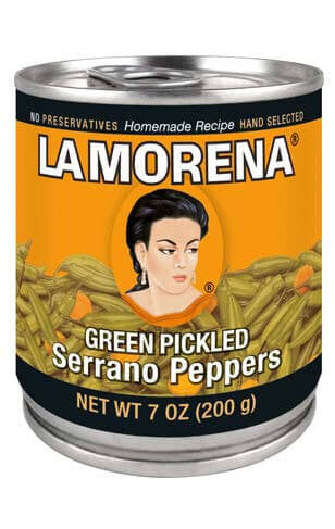La Morena - Green Pickled Serrano Peppers 200g
