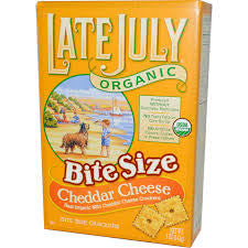 Late July - Organic Bite Size Cheddar Cheese Crackers 142g