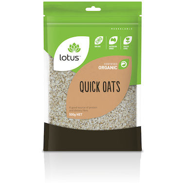 Lotus - Organic Quick Oats 500g