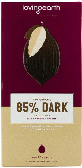Loving Earth - Raw Organic 85% Dark Chocolate 80g