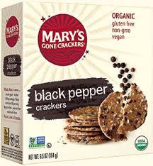Mary's Gone Crackers - Organic Black Pepper Crackers 184g