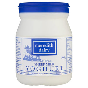 Meredith Dairy - Natural Sheep Milk Mediterranean Style Yoghurt 500g