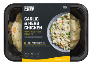 My Muscle Chef - Garlic & Herb Chicken with Vegetable Risotto 300g