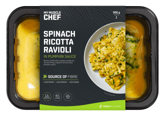 My Muscle Chef - Spinach Ricotta Ravioli in Pumpkin Sauce 300g