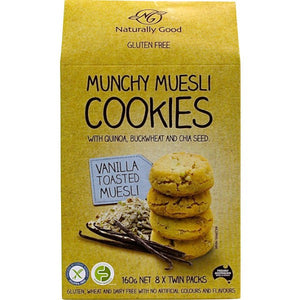 Naturally Good - Vanilla Toasted Muesli Cookies 8 x Twin Packs