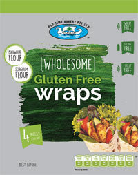 Old Time Bakery - Wholesome Gluten Free Wraps 250g