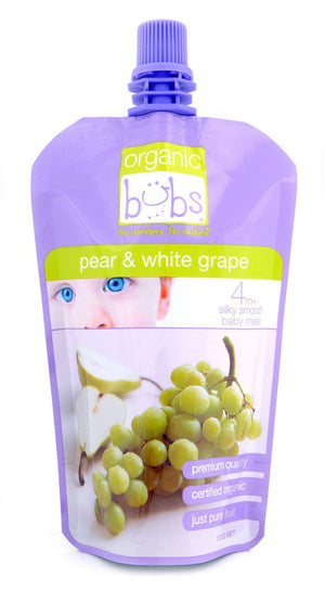 Organic Bubs - Pear & White Grape 120g