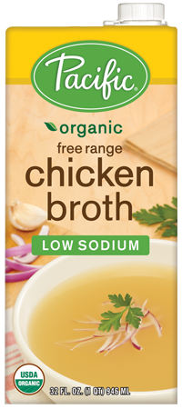Pacific - Organic Free Range Chicken Broth Low Sodium 1Lt