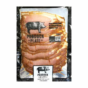 Paddock to Plate - Short Cut Bacon (Nitrate Free) 200g