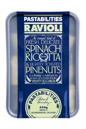 Pastabilities - Spinach, Ricotta & lightly toated Pinenuts Ravioli 450g