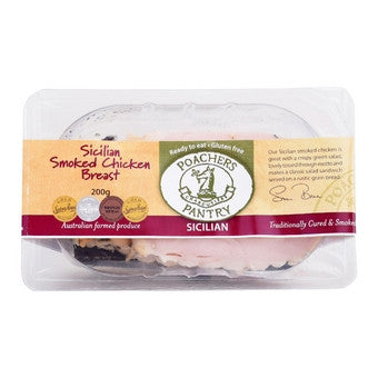 Poachers Pantry - Sicilian Smoked Chicken Breast 200g