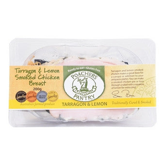 Poachers Pantry - Tarragon & Lemon Smoked Chicken Breast 200g