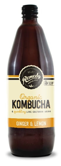 Remedy - Organic Kombucha Ginger Lemon 750ml