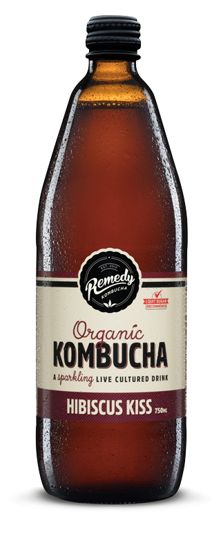 Remedy - Organic Kombucha Hibiscus Kiss 750ml