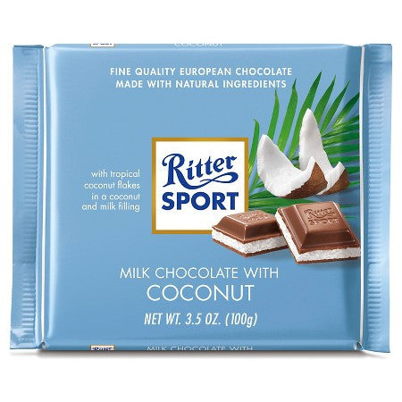 Ritter Sport - Milk Chocolate with Coconut 100g