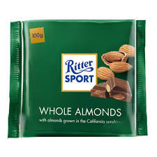 Ritter Sport - Whole Almonds Chocolate 100g