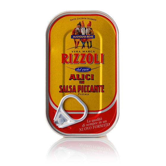Rizzoli - Anchovy Fillets in Spicy Sauce 90g