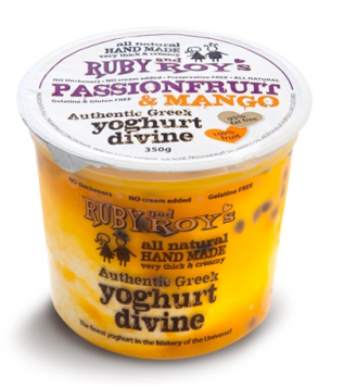 Ruby and Roy's - Passionfruit & Mango Authentic Greek Yoghurt 350g