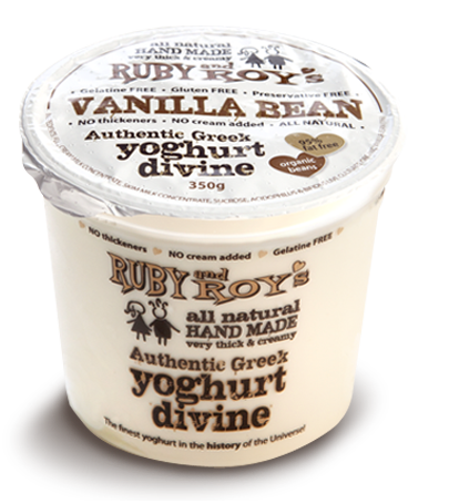 Ruby and Roy's - Vanilla Bean Authentic Greek Yoghurt 350g