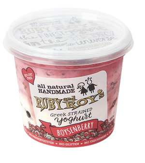 Ruby and Roy's - Boysenberry Authentic Greek Yoghurt 350g