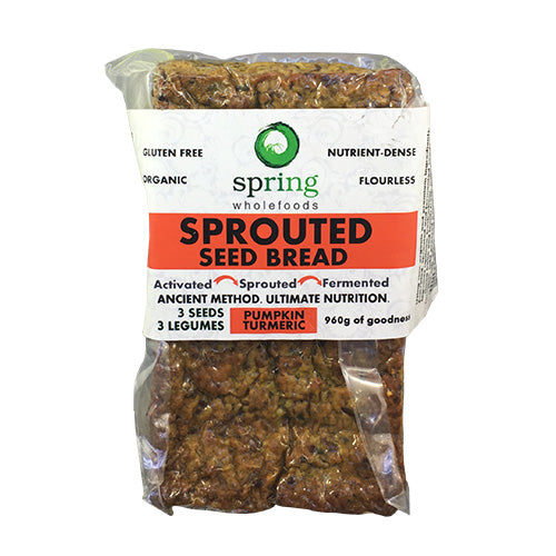 Spring Wholefoods - Sprouted Seed Bread Pumpkin & Tumeric 1kg