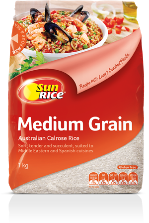 Sun Rice - Medium Grain Rice 500g