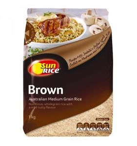 Sun Rice - Brown Medium Grain Rice 500g
