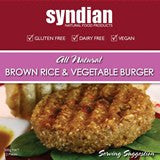 Syndian - Brown Rice & Vegetable Burger 300g