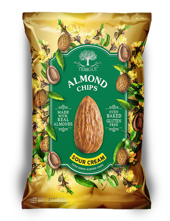 Temole Almond Chips Sour Cream 40g