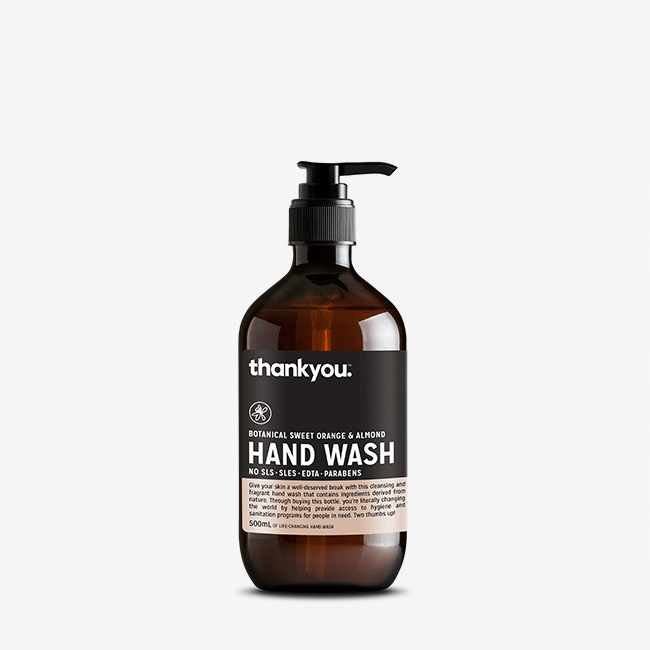 thankyou. hand wash botanical sweet orange & almond