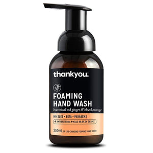 thankyou. foaming hand wash red ginger and blood orange