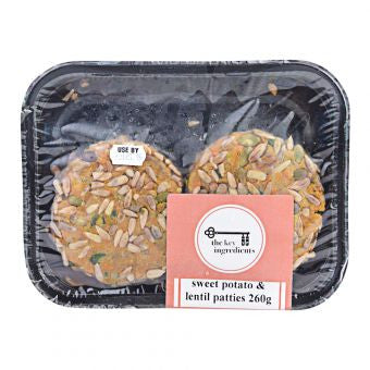 The Key Ingredients - Sweet Potato & Lentil Patties 250g