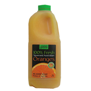 The Market Grocer - 100% Freshly Squeezed Orange Juice 2Lt