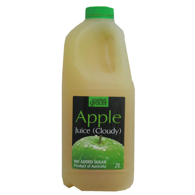 The Market Grocer - Apple Juice (Cloudy) 2L