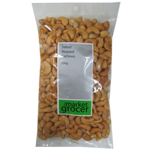 The Market Grocer - Salted Roasted Cashews 500g