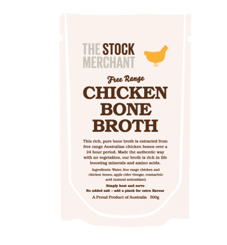 The Stock Merchant - Free Range Chicken Bone Broth 500ml
