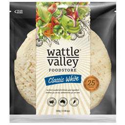 Wattle Valley - Classic White Wraps 8 pack