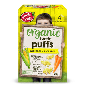 Whole Kids Organic Puffs Sweetcorn & Carrot