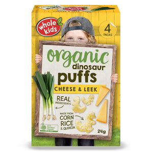 Whole Kids - Organic Puffs Cheese & Leek 24g (4 pack)