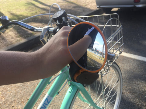 Handlebar bike mirror