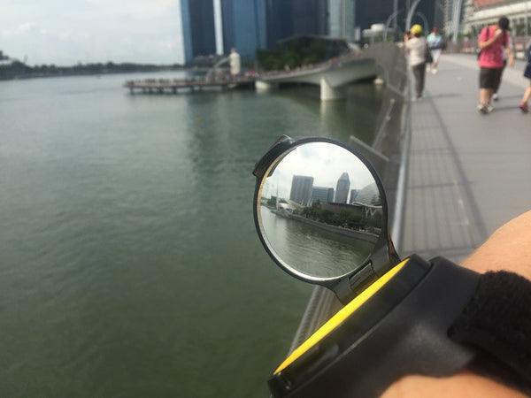 RearViz reflection of Singapore City