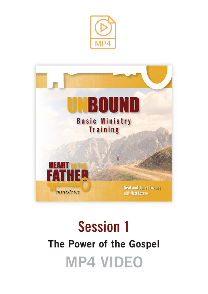 Unbound Basic Ministry Training Session 1 Video MP4:  The Power of the Gospel