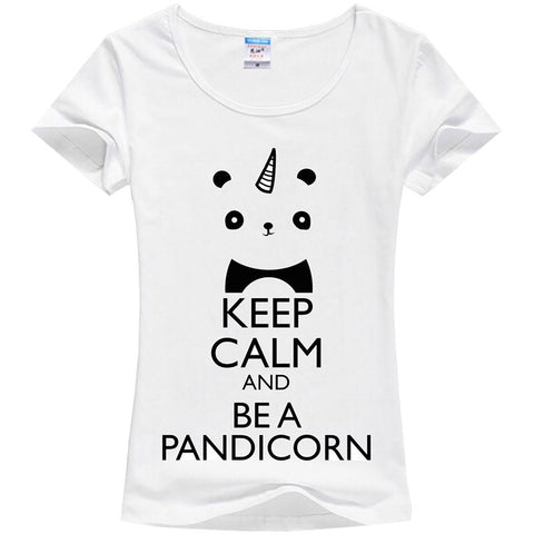 T-shirt femme KEEP CALM AND BE A PANDICORN